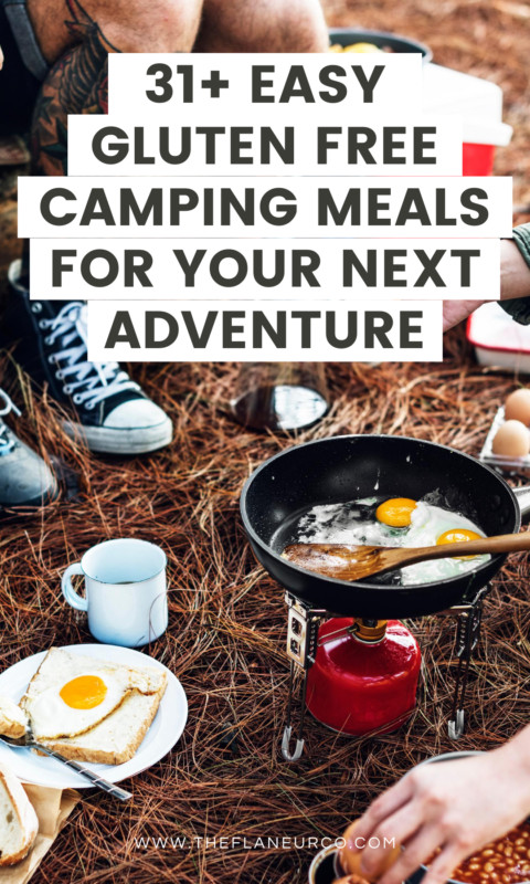 You finally get to put your tent to good use! The mountains, waterfalls, trees, and fresh air are calling your name. Everything's packed up and ready to go. It's time to hit the grocery store but what are you going to buy? Whether it's your first time camping or your 1000th, these easy gluten-free camping meals are sure to help make mealtime a delicious breeze. #adventure #outdoors #camping #nature #hiking