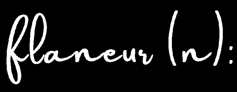 flaneur (n):